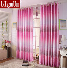 Rustic Curtains Finished Products Cloth Curtains + Sheer Curtains For Living Room Golden and Pink  Discounted
