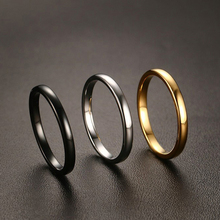 Female 2mm Width Small Ring Quality Tungsten Carbide with Gold Gun Black Plated Wedding Ring for Women Size 6 7 8 9 10 11(China)