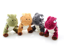 Super HOT , Quality Toy - 6 COLORS - 10CM Height Dinosaur Key chain ring Plush Stuffed TOY DOLL , dragon animal Plush Toys(China)