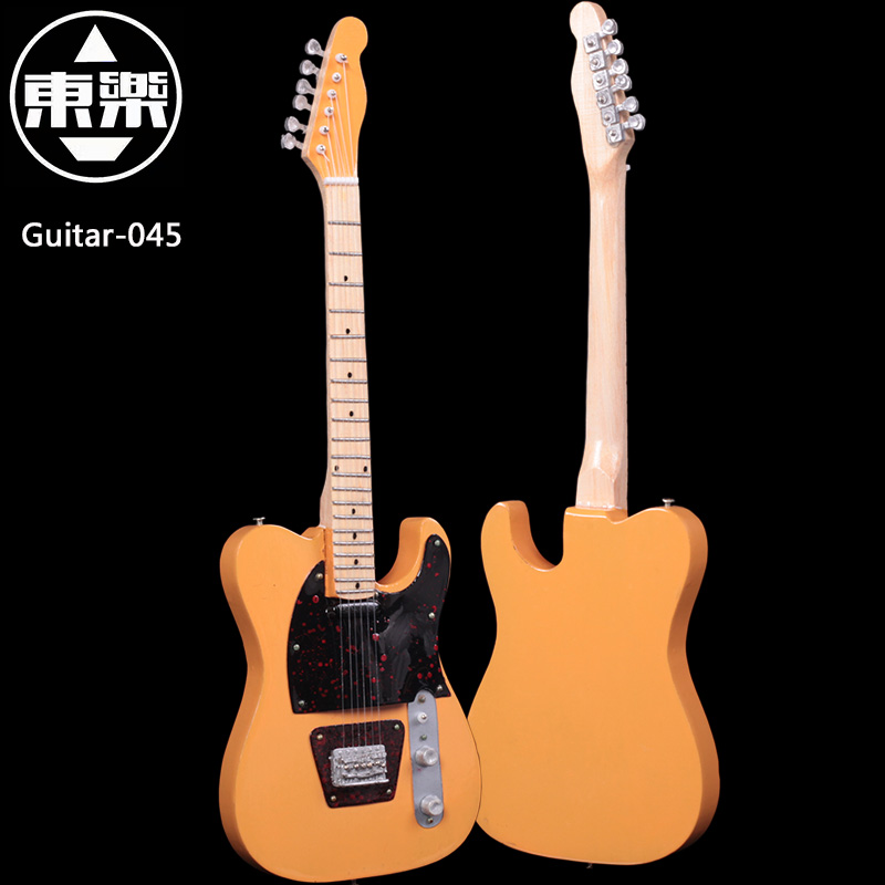 Wooden Handcrafted Miniature Guitar Model guitar-045 Guitar Display with Case and Stand (Not Actual Guitar! for Display Only!)<br>