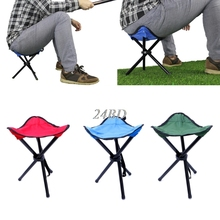Outdoor Fishing Portable Folding Chairs Picnic Beach Three Feet Seats Tackle O03(China)