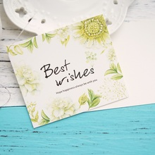50pcs Mini best wishes green fruit plants Card leave message cards Lucky Love valentine Christmas Party Invitation use(China)