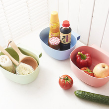 Practical Cabinet Doors Hanging Food Storage Box Can Without Lid Finishing Box Kitchen Bathroom Accessories C1(China)