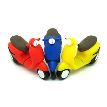 3 color cartoon motorcycle USB flash drive memory stick pendrive pen drive cool car gift 100% real capacity 4gb 8gb 16gb 32gb