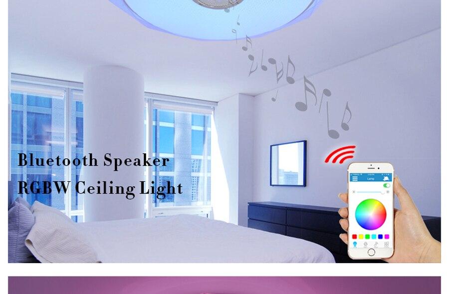 Plafoniera Con Altoparlante : Acquista moderno smart remote control e app music plafoniere con