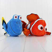 2pcs/lot American Cartoon Finding Nemo Plush Toy Fish Nemo and Dory Stuffed Doll Animal Toys for Kids Free Shipping