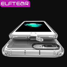 ELFTEAR Crystal Clear Protect PC Phone Case With Dust Plug  for iPhone 6 6s 7 7 Plus Ultra Thin Transparent Clear Hard PC Case