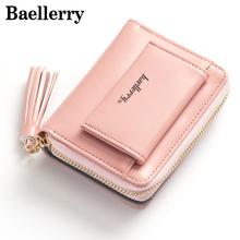 Fashion Leather Women Wallet Tassels Small Wallets Female Famous Brand Womens Wallets and Purses Mini Coin Purse Baellerry(China)