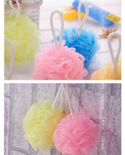 new bath products sponge loofah exfoliating gloves Shower Set Mesh Net Scrub Strap Exfoliate Puff Sponge Loofah Flower Lace Ball