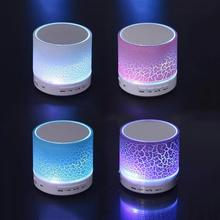 A9 Smart Colorful LED Light Crack Pattern Mini Wireless Bluetooth Speaker, Portable Bluetooth Stereo Speaker With USB/TF/FM/AUX(China)