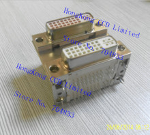 24 +5 DVI socket double 90 degree bend pin female connector