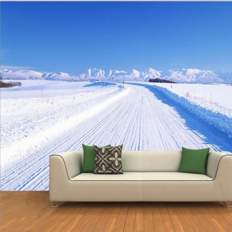 papel de parede  custom photo wallpaper 3D covered road leading to a distant backdrop mural wallpaper   wallpaper for walls 3d<br><br>Aliexpress