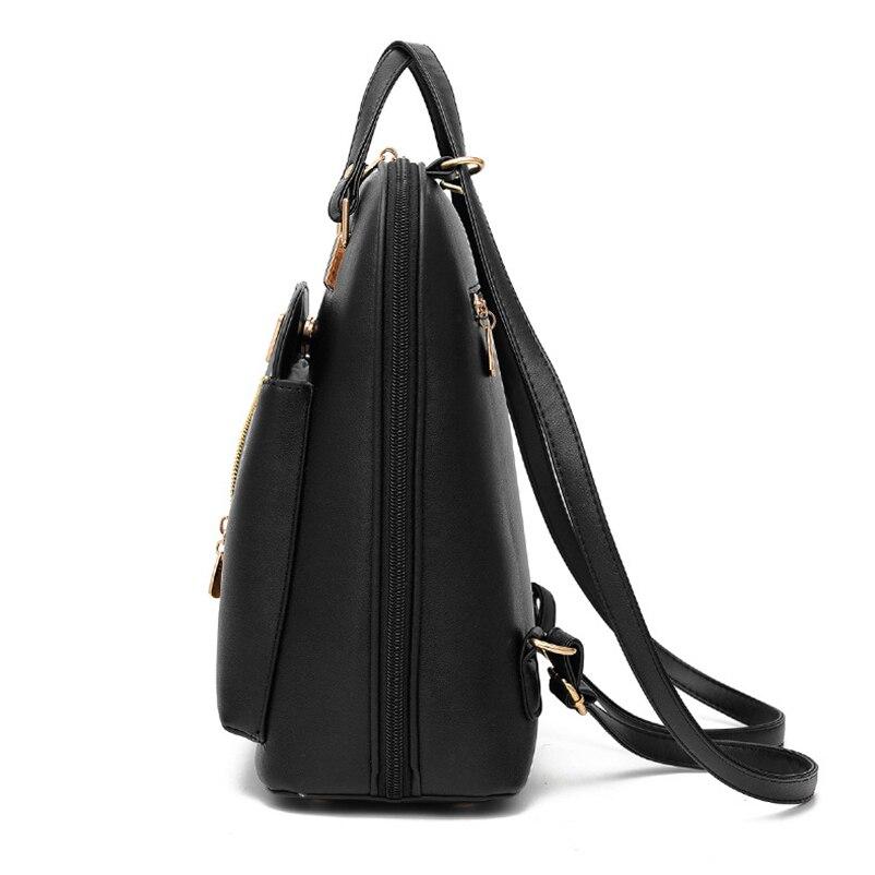 Nevenka Anti Theft Leather Backpack Women Mini Backpacks Female Travel Backpack for Girls School Backpacks Ladies Black Bag 201809