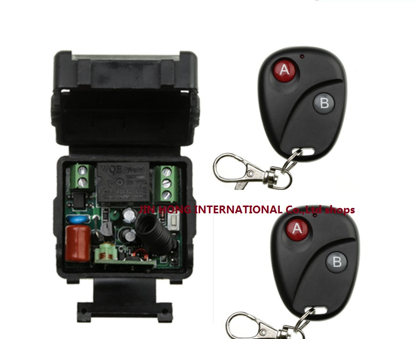 AC 220 v 1 ch RF wireless remote control switch 1 pics receiver +2 pics transmitter With 2 buttons<br><br>Aliexpress