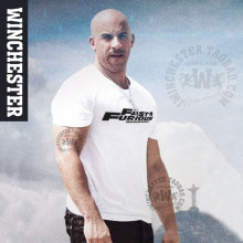 The Fast and the Furious Fast & Furious 7 Vin Paul Walker short sleeve T shirt leisure cotton Men casual Tees(China)