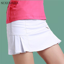 SEXEMARA tennis skirts women skorts girl badminton running skirt ladies tennis sport skirts with panties 1pc