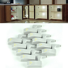 10PCS/lot Universal LED Light Cabinet Cupboard Hinge Wardrobe System Modern Home Kitchen Lamp White