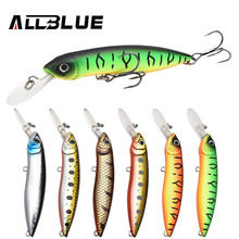 ALLBLUE New Professional Wobbler Fishing Lure Floating Minnow Crank Bait 100mm 18.5g Swimbait Crankbait Pike Equipped Black Hook(China)