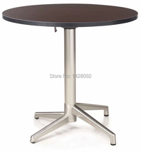 fashion modern folded round MDF top brushed aluminum coffee table cocktail table dining table LQ-GC0877(China)
