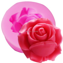 M518 Rose / Flower 22cm Silicone Mold for Fondant, Cake Decorating Chocolate Cookie Soap Fimo Polymer Clay Resin Rose size:2.2cm(China)