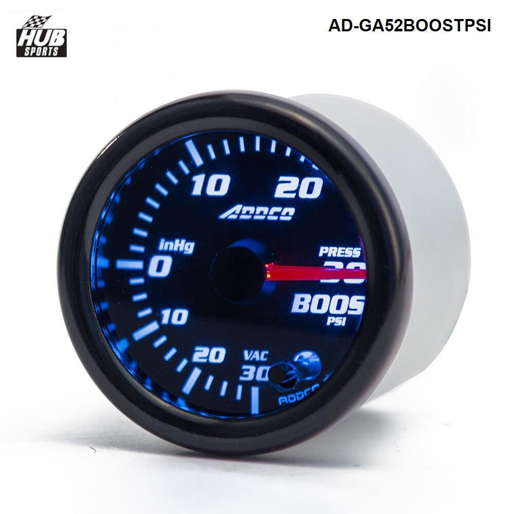 "Hubsports  -2"" 52mm 7 Color LED Electrical Car PSI Turbo Boost Gauge Meter With Sensor and Holder AD-GA52BOOSTPSI"