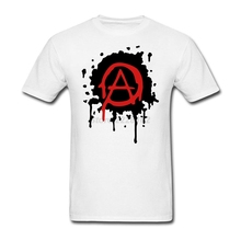 Mens Anarchy Logo T Shirt Luxury Spring Best Concert Tee Cool Tubthumping tee shirt Making Cotton Gentleman Family Clothing(China)