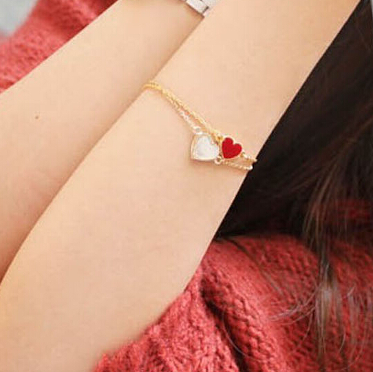L077-Hot-New-2017-Fashion-Cheap-Official-3-Colors-Heart-Bracelet-For-Women-Wedding-Jewelry-Accessories