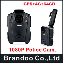 64GB A12 body worn Camera HD 1080P Police Body Worn Video Camera with GPS+4G function