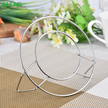 High-Profile Pot Steamer Kitchen Cookware Round Stainless Steel Silver Cooking Ware Steaming Rack Stand Kitchen Heating Supplies