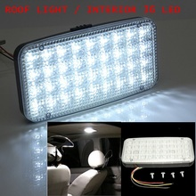 White 12V 36 LED Car Truck Auto Van Vehicle Ceiling Dome Indoor Roof Interior Light Lamp DC Universal Car Styling(China)
