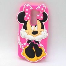 Cartoon 3D Hello Kitty Minnie Minions Stitch Soft Silicone Cellphone Moblie Phone Silicone Case Back Cover For LG G2 Mini G2mini
