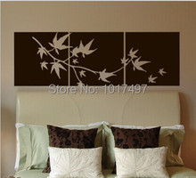 Large size free shipping set of 3 Japanese Maple Branch Vinyl Wall Decal Stickers For Japanese Home Wall Decoration ,JP001