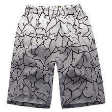 new 2015 Fashion brand new men's casual Flower Stripe dry beach shorts men's surfboard beach trunks(China)