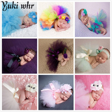 2017 Newborn Photography Props Infant Girl Pettiskirt Princess Baby Tutu Skirt Headband Baby Photography Props