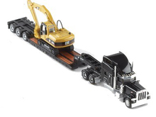 FreeShipping Caterpillar Cat Norscot Trail King Lowboy Trailer And Cat 315C L 1:87 Construction vehicles #55415 For Baby Gifts