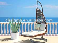 2017 Unique outdoor furniture rattan swing chair