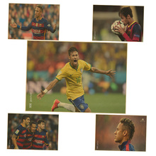 Barcelona football player neymar da silva poster Wall Sticker retro kraft paper poster Kid Bedroom