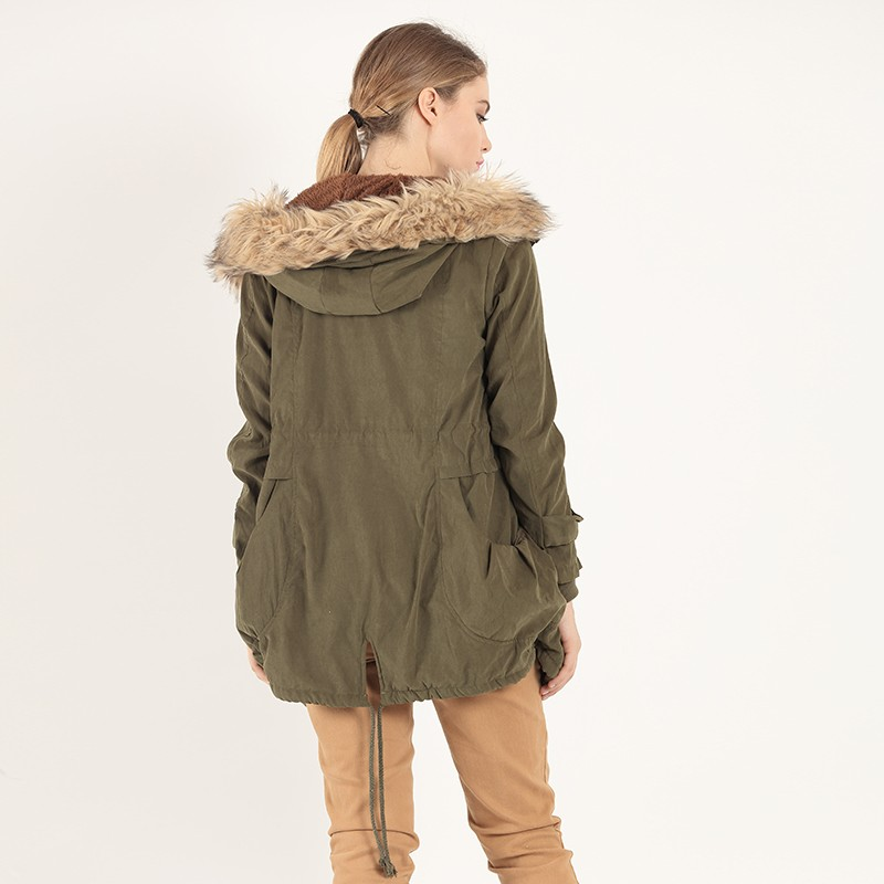 Thickens Winter Jacket Women Down Coat Parka Fashion Fur Collar Cotton Warm Coat Long Sleeves Hoodied Style Zip Up Big PocketОдежда и ак�е��уары<br><br><br>Aliexpress