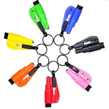 8Colors Car Styling Life Saving Hammer Emergency Rescue Tool Car Accessories Seat Belt Cutter Window BreaK tool Key Rings