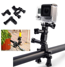 Gopro Holder Adapter Set Bike Motorcycle Handlebar Seatpost Pole Mount + 3 Way Adjustable Pivot Arm for Gopro Hero  3 3+ 4 SJCAM