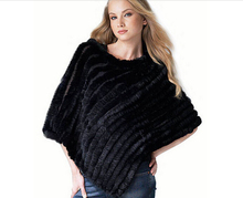 2015 FREE SHIPPING*Genuine Rabbit fur poncho/shawl/jacket/Coats*wholesale