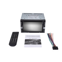 LESHP 800 x 480 Touch Screen 2 DIN Car DVD Player Double Radio Stereo In Dash MP3 Head CD Camera Parking HD Video Audio