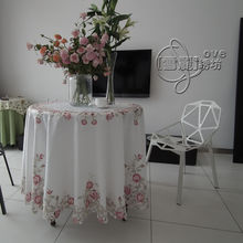 Rustic cloth embroidered dining table cloth round table cloth tablecloth cutout cover towel beautiful rose