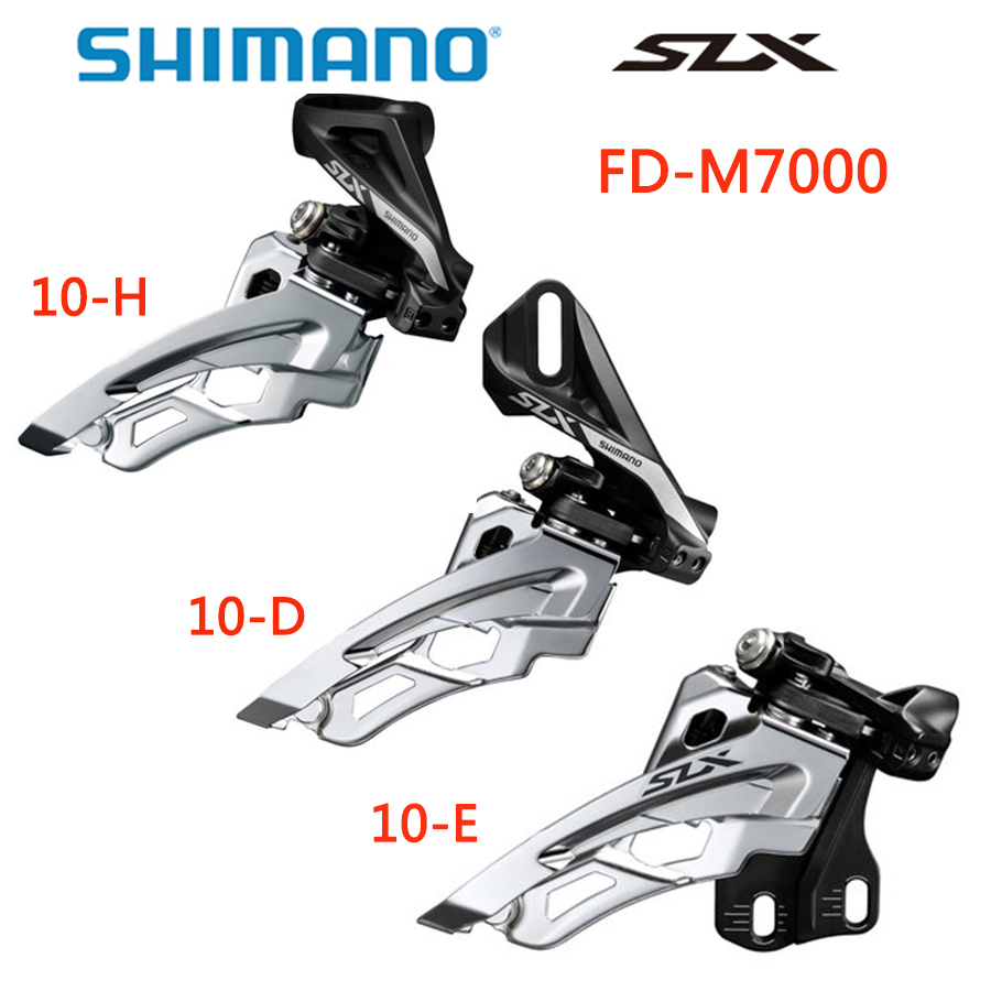 Shimano Slx Fd M671 3X10 Front Derailleur Bottom Swing 10 Speed Dual Pull Bike