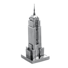 Jigsaw Puzzle Metal Stainless Steel DIY Assembly Model 3D  Empire State Building Educational Toys For Toddlers Kids