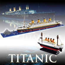 Big Titanic Model Movie RMS The Titanic Ship Titanic Building Blocks Boat 3D Model Toys Educational Toys for Children