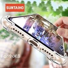 Suntaiho shockproof phone case Xiaomi mi8 case Cover Silicone tpu Protective case xiaomi Redmi 4x xiaomi redmi note5