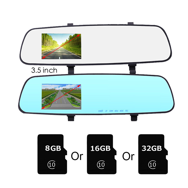 Dual Lens HD 1080P 170 °Video RecorderRearview Mirror Car Camera DVR 2.8//4 inch
