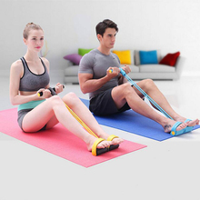 Home Gym Fitness Crossfit Body Building Elastic Pedal Exerciser Resistance Band Rope Training Workout Sports Equipment Accessory
