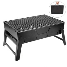 Outdoor Portable Folding BBQ Charcoal Grill Picnic BBQ Grill for Barbecue Camping Barbecue Family Party Grill 35*27cm small size